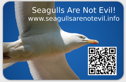 Seagulls Are Not Evil sticker